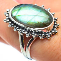 Labradorite 925 Sterling Silver Ring Size 8.5 Ana Co Jewelry R29672F