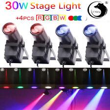 4X 30W LED Pinspot Punktstrahler Spot RGBW Disco Bühnenlicht Lichteffekte Disco