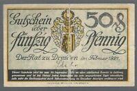 Notgeld - Dresden - Stadt Dresden - 50 Pfennig - 1921 - Verkehrsausgabe - U
