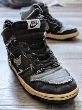Nike DUNK HI Black Denim Size 9 312423-001 SB 2005 Release * RARE*