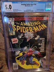 Amazing Spider-man #194 CGC 5.0 1st Black Cat fresh grade beautiful WOW