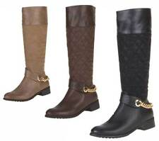 Markenlose kniehohe Damen-Stiefel mit Reißverschluss