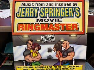 JERRY SPRINGER'S RINGMASTER MOVIE SOUNDTRACK DOUBLE LP 1999 LIL JOE XR241 PROMO