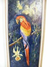 Gemälde Papagei Ara Signiert. Mader