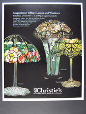 1982 Christie's Tiffany Lamps Auction lotus cobweb squash photo vintage print Ad