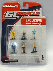 Greenlight 1/64 Muscle Car PEOPLE Diorama Pack 6 Figures MIP VHTF RARE