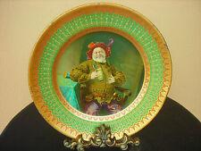 Antique Vienna Art Tin Litho Portrait Plate Jack Falstaff Dresden Meek Company