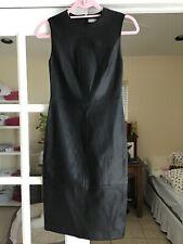 VINCE Genuine Sleeveless Leather Dress in Black, NWT, sz.0: orig$995,  great buy
