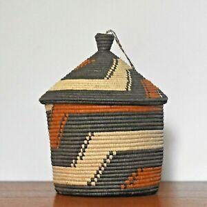Ethnic storage baskets | Unique lidded baskets, Ethical African basket with lid