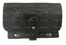 Pelle Nera Design CACCIA FUCILE 6 Proiettili Holder Box cartuccia PISTOLA Ammo Belt