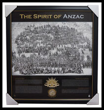 Anzac War Print Framed The Spirit of Anzac Print Framed with Medallion Sands WW1
