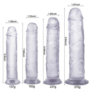 Jelly Dong Dildo Suction Cup - 4 Sizes Waterproof Realistic Cock Veined Dildos