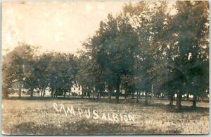 "Vintage ALBION, Iowa RPPC Photo Postcard ""Campus"" Albion College / 1906 Cancel"