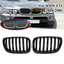 Shiny Gloss Black Front Hood Grill Grille for BMW X5 E53 2004 2005 2006 LCI SUV