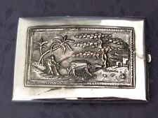 ARGENT MASSIF  CHINE DU SUD CHINESE SILVER  ETUI A CIGARETTE