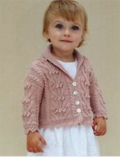 Knitting Pattern Baby/Child's Gorgeous Shawl Collared Cardigan Ages 6-48 mth 128