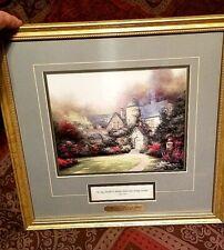 Thomas Kinkade Beyond Autumn Gate Framed Artwork Print Picture with Coa