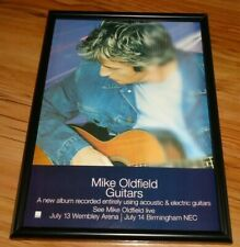 MIKE OLDFIELD guitars framed original press release promo poster