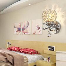 Modern Crystal Wall Light E12 Sconce Loft Bedroom Bedside Lighting Wall Sconce