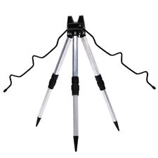Aluminum Alloy Telescopic Fishing Tripod Holder Stand for Fishing Rod Silver HC