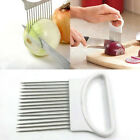 Stainless Steel Onion Holder Slicer Vegetable Cutter Kitchen Gadget Tool Popular