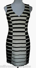 New Womens Black White NEXT Tailored Dress Size 18 RRP £45 DEFECT
