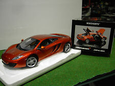 McLAREN MP4-12C de 2011 orange au 1/18 MINICHAMPS 110133020 voiture miniature