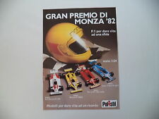 advertising Pubblicità 1982 POLISTIL RENAULT RE 30/LIGIER TALBOT/FERRARI F1  126