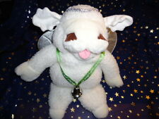 """Target Plush 16"""" Puppet White Christmas Angel Baby Lamb Chop Wings Bell Halo"""