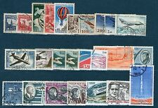 25 TIMBRES POSTE AERIENNE OBLITERES TOUS DIFFERENTS - #2