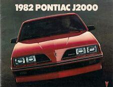 Pontiac J2000 1982 USA delle vendite sul mercato opuscolo Coupe Berlina Coupé CARRO