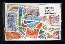 France Europa 25 timbres différents oblitérés