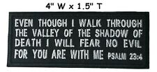 PSALM 23:4 ROCKER EMBROIDERED PATCH CHRISTIAN RELIGIOUS hook BIBLE JESUS