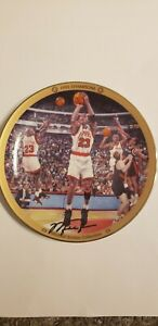 """UPPER DECK MICHAEL JORDAN """"1992 CHAMPIONS"""" LIMITED EDITION 8"""" PLATE WITH COA"""