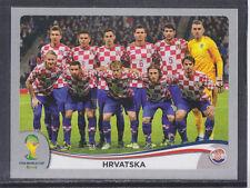 Panini-Brasil 2014 World Cup - # 52 Hrvatska equipo Grupo-Platinum