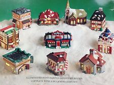 Spirit of America Santa's Best Handpainted Porcelain Village Houses Church