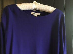 Perri Cutten Royal Blue Top 3/4 Sleeve