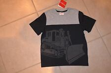 Hanna Andersson Boy's 130 US Size 7 - 8 - 10 Black / Gray Bulldozer T-shirt