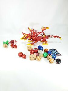 Lot of 24 Bakugan Battle Brawlers & Bakugan Dragonoid Colossus Read Description
