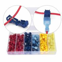 Ginsco 120 Pcs/60 Pairs Quick Splice Wire Terminals T-Tap Self-stripping with