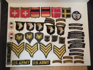 Lot of US Military Patches and Other Pieces