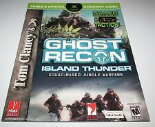 Ghost Recon Island Thunder Strategy Guide for Xbox Brand New