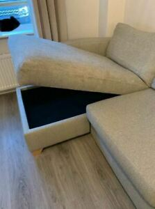 4 seater DFS corner sofa with storage