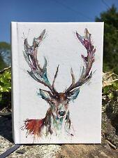 Acquerello Highland Mucca Art A5 RILEGATO Diario//Blocco Note//Blocco Note