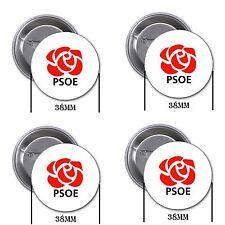 PSOE, Pedro Sánchez - 4 chapas, pin, badge, button, A