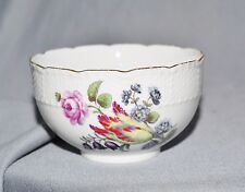 Bowl Kumme Meissen, Old Osier, Flower Painting, Middle 18.Jh 1.W