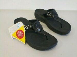 FitFlop Walkstar III Oyster Leather Sandal Women Sz 8.5 029-001