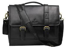 "StarHide 15"" Real Leather Laptop Travel Bag Briefcase Office School Bag 525"
