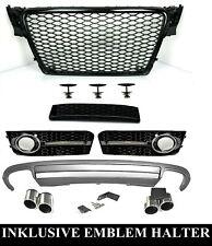 Für Audi A4 B8 08-12 RS4 -Look Wabengrill + S4 Look Diffusor Stoßstangen Grill 2