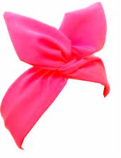 Pink Pin Up 50's Retro Wire Headband Scarf Hair Wrap